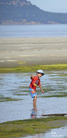 Bill's son Noah @ Sidney Spit August 2011