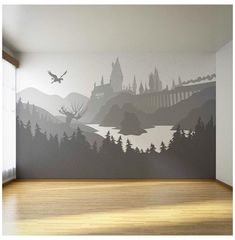 Décoration Harry Potter, Harry Potter Nursery, Harry Potter Wall Art, Nursery Themes, Themed Nursery, Potters House, Woodland Nursery Decor, Rustic Nursery, Animal Nursery