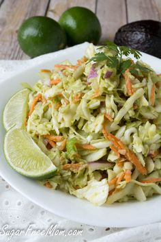 Avocado Coleslaw, vegan, sugar-free