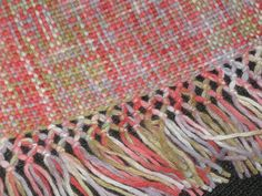 This edging is beautiful! So is the woven fabric!