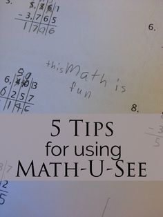 5 Tips for Using Math-U-See » Simply Convivial
