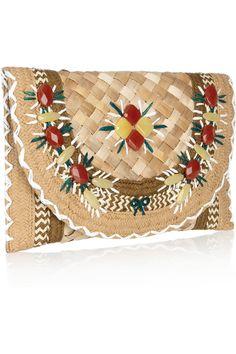 'ipanema' straw & raffia oversized clutch anya hindmarch s/s2012