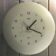 Buy ashortwalk Powder Coated Stainless Steel Time and Tide Clock, from our Clocks range at John Lewis & Partners. Tide Clock, Driftwood Mirror, Time And Tide, Unique Clocks, Nautical Gifts, Tk Maxx, Powder Coating, Stainless Steel, Cream