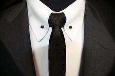 Collar Bar Sharp Dressed Man, Well Dressed Men, Pin Collar Shirt, Blazer Outfits Men, Bespoke Shirts, Suit Accessories, Elegant Man, Wedding Suits, Stylish Dresses