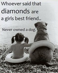 Whoever said that diamonds are a girls best friend...Never owed a dog.