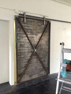 Ručné práce industrial metal posuvné dvere stodoly