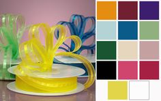 Mason Center Satin and Sheer Ribbons
