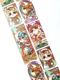 Elegant cat washi tape from Meowashitape