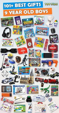 Browse our Christmas Gift Guide featuring Best Gifts For Boys. Discover educational toys, unique kids gifts, kids games, kids books, and more for your 9 year old boy. Make his Christmas extra magical with these delightful picks he'll love! Best Gifts For Boys, Cool Toys For Boys, Unique Gifts For Kids, Presents For Boys, Birthday Gifts For Boys, Diy Birthday, Kids Gifts, Tween Boy Gifts, Unique Toys