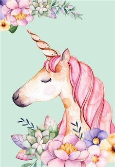 no frame cartoon unicorn canvas printings oil paintings printed on canvas #OilPaintingOnCanvas