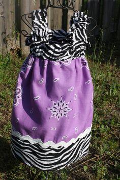 Boutique Bandana dress. $25.00, via Etsy.