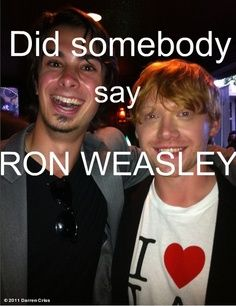 Joey and Rupert! This is so great. Harry Potter Ron and A Very Potter Musical Ron.