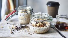 Banana Cocoa Crunch Overnight Oats Recipe on Yummly. Quick And Easy Breakfast, Breakfast On The Go, Breakfast Bars, Breakfast Recipes, Breakfast Ideas, Breakfast Biscuits, Breakfast Dishes, Vaping, Oats Recipes
