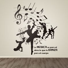 Ballet Studio, Ballet Art, Dance Studio, Dance Bedroom, Dance Rooms, Wall Painting Decor, Wall Drawing, Music Wall, Dance Art