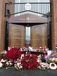 Hillsborough Memorial outside Anfield