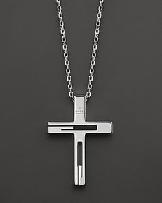 0c99fd4c7a8 Gucci Sterling Silver Cross Necklace Men - All Accessories - Bloomingdale s