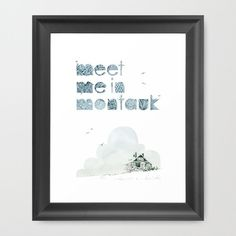 """Meet Me In Montauk"" Framed Art Print by Indescribble - $38.00"