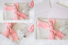 photographer usb packaging... love this! DIY linen envelope and fabric ribbons