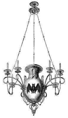 Antique Images - 3 Chandeliers - 1 Spooky - The Graphics Fairy