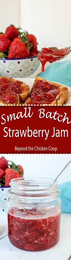 Homemade strawberry jam made with just two ingredients.