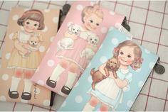 """Paper Doll Mate"" Afrocat Multi Pouch Version 5 105x195mm 3 Colors | eBay"