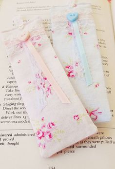 Shabby and Chic Lavender scented Bookmarks by picocrafts on Etsy, $8.00