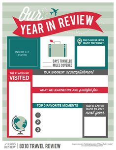 Year In Review With Photos Template  By Roxanne Buchholz