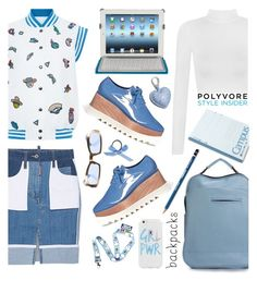"""""""Rule School: Cool Backpacks"""" by dorinela-hamamci ❤ liked on Polyvore featuring STELLA McCARTNEY, Mira Mikati, WearAll, Piquadro, L. Erickson, Chanel and Etienne Aigner"""