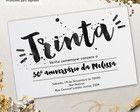 Convite Aniversário 30 anos p/ imprimir