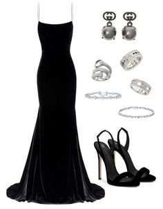 Black long dress party event outfit Source by SirenaSana dress outfits Trendy Black Outfits, Classic Work Outfits, Classy Outfits, Chic Outfits, Winter Fashion Outfits, Look Fashion, Fashion Dresses, Fashion Tips, Party Fashion