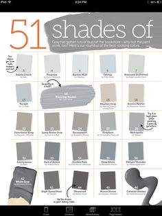 51 Shades Of Grey Paint Color