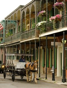 New Orleans French Quarter. I've been there, but want go back again.