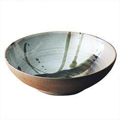 益子焼 炭化浅鉢