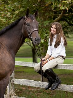 Girl with her horse | Deborah Kalas Equestrian Photography
