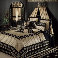 Luxury Bedding Sets On Sale Royal Bedroom, Bedroom Bed, Dream Bedroom, Bedroom Decor, Master Bedroom, Elegant Home Decor, Elegant Homes, Bed Sets, Luxurious Bedrooms