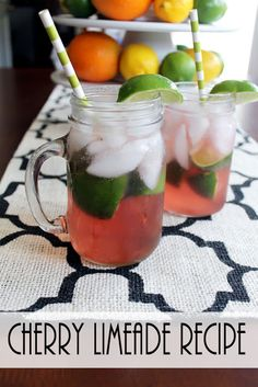 Cherry Limeade Recipe by The Country Chic Cottage | City of Creative Dreams: The Beautifully Creative Inspired Link Party #47