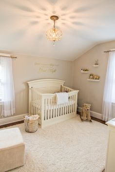 Soft Neutral Nursery - love to see gold in a neutral nursery!
