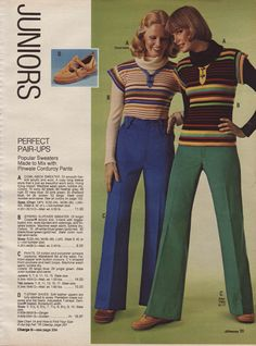 1976 Juniors clothes. I owned a version of this and thought I looked hot!   Lol