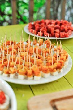 Apéro coloré - Bouchées de butternut et fêta by fefile.com