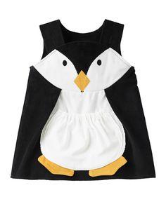 Niñas vestido de pingüino