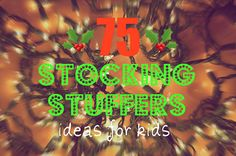 75 stocking stuffer ideas for toddlers and preschoolers! Some for bigger kids too! #christmas #nowoodenspoons