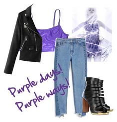 """Purple"" by tilli-777 ❤ liked on Polyvore featuring Monki and Christian Louboutin"
