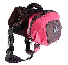 Pet Dog Travel Hiking Camping Outdoor Saddle Bag Backpack Harness Back Pack SML