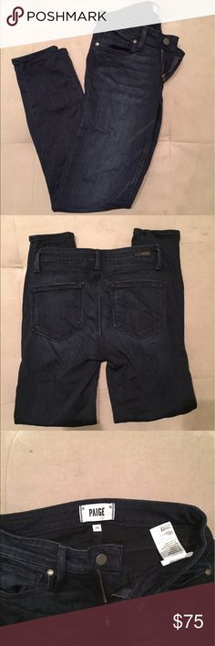 Paige jeans verdugo Verdugo ankle skinny crop. Dark wash. Wore them twice. Just like brand new! Paige Jeans Jeans Ankle & Cropped