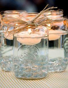 02 Schwimmkerzen kerzen hochzeit hochzeitsdekoration tisch selber machen gals Hochzeit Deko Idee – Lichthochzeit mit Kerzen oder Lampen