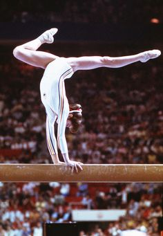 Nadia Comaneci - we did not have a tv, but we were staying with my grandparents when the Olympics were on tv.