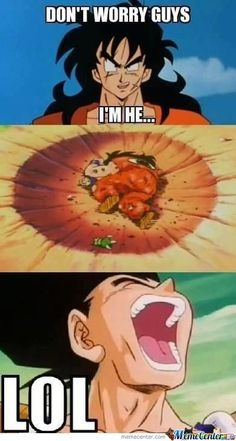 Yamcha's first DBZ fight.  Poor Yamcha! lol