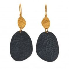 24k Gold and Gilver disc Melissa Earring