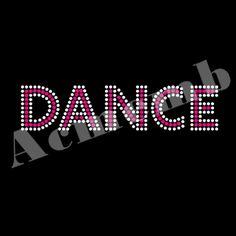 Iron On Dance Rhinestone Transfer Designs