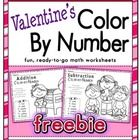 This is not you average color-by-number. Students get to practice their addition and subtraction skills while they enjoy coloring a Valentine's pic...